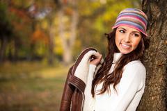 fashion autumn woman - stock photo