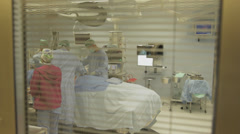 Operating room from window - stock footage