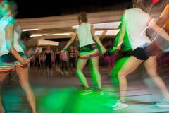 Fitness dance class aerobics Stock Photos