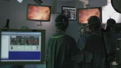 Operation room monitors 2 Stock Footage