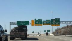 Driving shots on I-65 in Nashville TN - stock footage