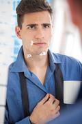Stock Photo of bad shaving