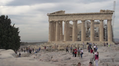 Acropolis Parthenon wide shot Stock Footage