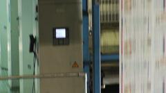 Printing Press Convayor 11 Stock Footage