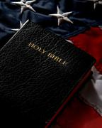 America and Christianity - stock photo