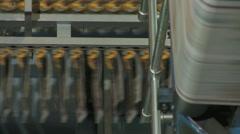 Printing Press Convayor 15 Stock Footage