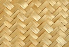 bamboo wood texture ,handwork - stock photo