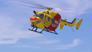 Westpac Lifesaver1 Rescue Helicopter searches coast line PT1 Stock Footage