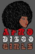 afro disco girls vector art - stock illustration