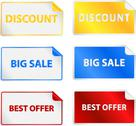Stock Illustration of Colored Sale Tags Labels