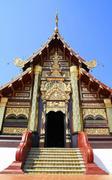 Thai temple and step entrance Stock Photos