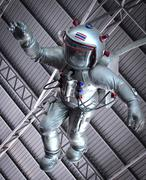 The astronaut  under roof - stock photo