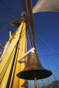 Stock Photo of Bell hanging in a clipper ship, Amalfi, Province Of Salerno, Gulf Of Salerno,