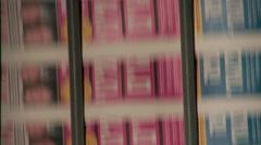 Printing Press Convayor 24 Stock Footage