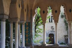 Stock Photo of Colonnade of a building, Amalfi, Province Of Salerno, Campania, Italy