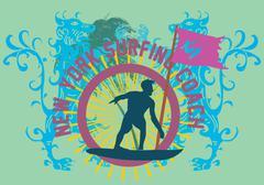 Pacific surfer vector graphic design Stock Illustration