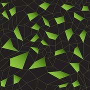 Green vector mosaic grid Stock Illustration