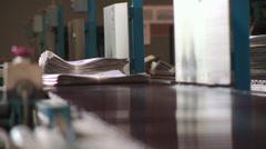 Printing Press Convayor 30 Stock Footage
