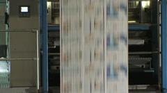 Printing Press Convayor 7 Stock Footage