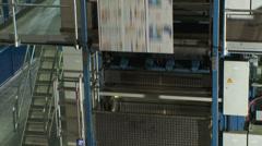 Printing Press Convayor 8 Stock Footage