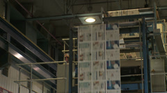 Printing Press Convayor - stock footage