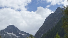 Alpine weather time lapse Stock Footage