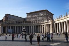 Tourists at St. Peters Square, Vatican City - stock photo