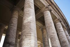 Low angle view of Berninis Column, St. Peters Square, Vatican City Stock Photos