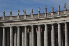 Berninis columns at St. Peters Square, Vatican City Stock Photos