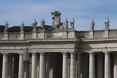 Statues of Alexander VII Pont Max at St. Peters Square, Vatican City Stock Photos