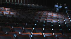 Seats empty ampitheater 3 Stock Footage