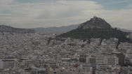 Stock Video Footage of Athens skyline and Mount medium shot