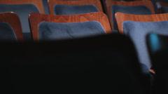 Seats empty ampitheater closeup Stock Footage