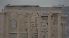 Acropolis old temple of Athena detail - stock footage