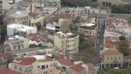 Stock Video Footage of Athens rooftops and streets medium shot