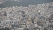 Stock Video Footage of Athens skyline, apartments medium shot
