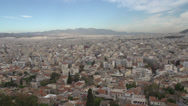Stock Video Footage of Athens skyline wide pan