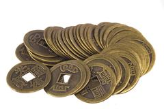China coins Stock Photos