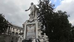 Mozart statue, Vienna Stock Footage