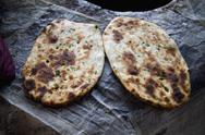 Stock Photo of Close-up of Indian breads (Kulcha), Amritsar, Punjab, India