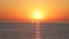 Sun over sea Stock Footage