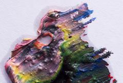 smear paint - stock photo