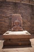 Stock Photo of Statue of Lord Buddha in stupa at Sanchi, Madhya Pradesh, India