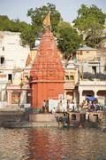 Temple at Shipra Ghat, Shipra River, Ujjain, Madhya Pradesh, India Stock Photos