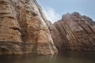 Stock Photo of Marble rocks alongside Narmada River, Bhedaghat, Jabalpur District, Madhya