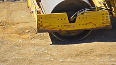 heavy steamroller / roadroller - stock video - stock footage