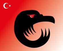 Turkish red flag  vector art Stock Illustration