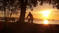 Gorgeous sunset in Vancouver 02 Stock Footage