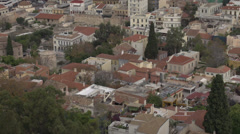 Stock Video Footage of Athens rooftops slow creep in