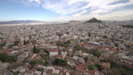 Stock Video Footage of Athens skyline and Mount pan very wide